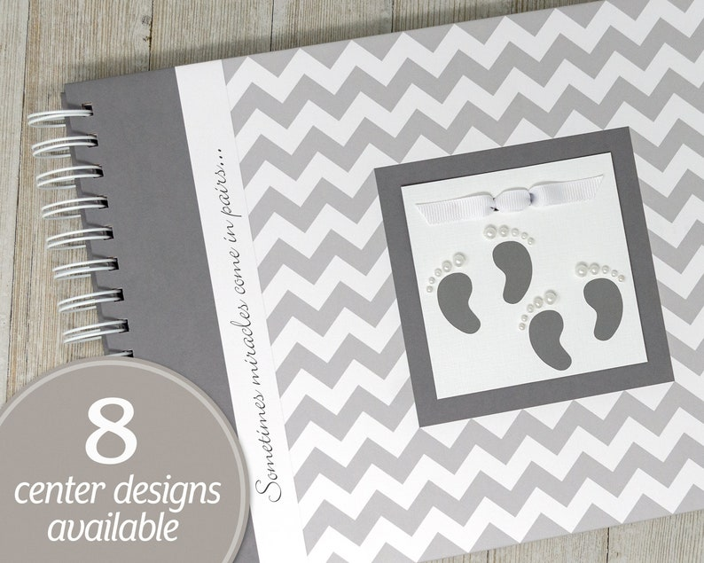 Twin Pregnancy Journal  Personalized Pregnancy Book for Twins image 0