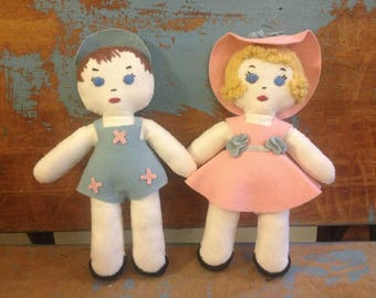 Antique Clothe/Felt Dolls