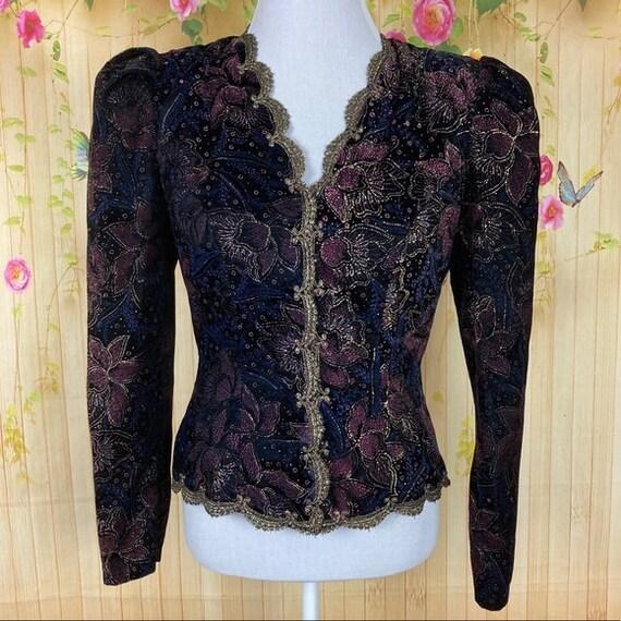Scott McClintock Vintage Black Victorian Blazer
