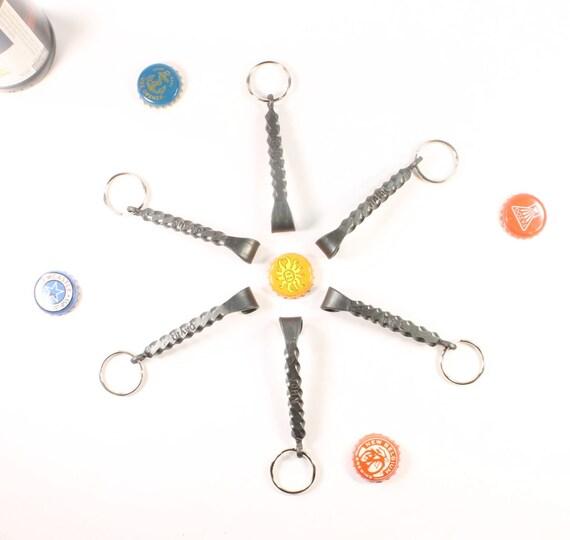 8035b348fd01 Groomsmen Gift set of of SIX Keychain Bottle Openers with