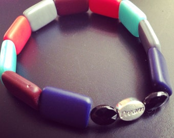 Bracelet - Dream Inspiration Multi-Color Stretch Bracelet