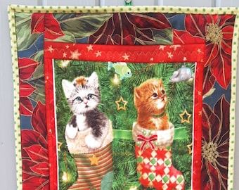 Christmas Wall Hanging, Kittens, Tabletopper, Cats