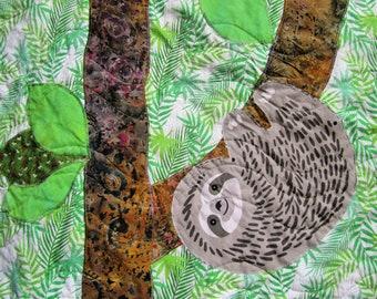 Sloth Baby Quilt Nursery Animals