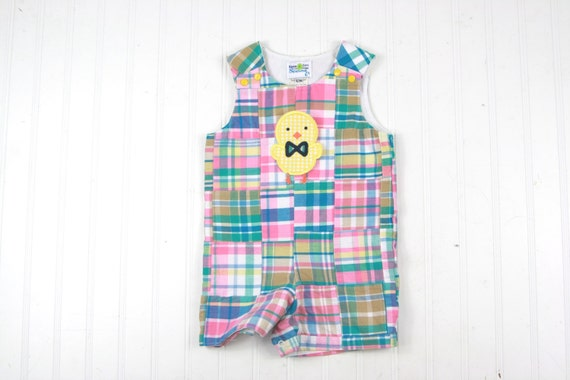 b414f51fe Easter Boy Clothes Easter Chick Outfit Patchwork Plaid