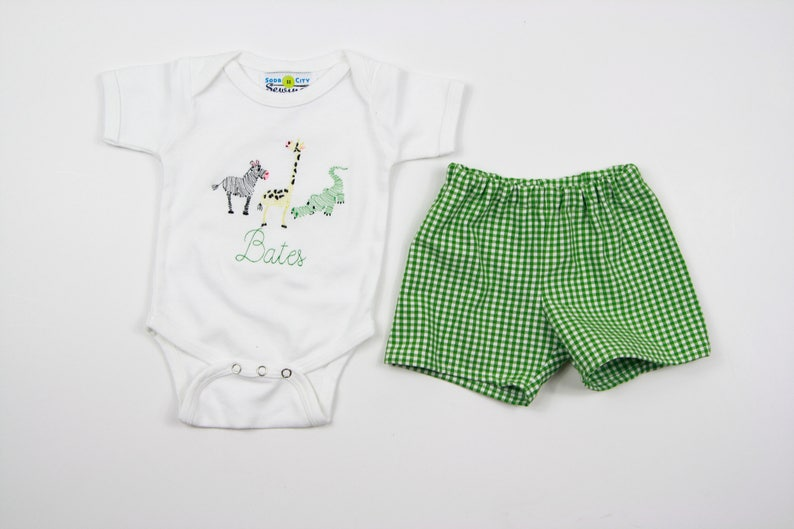 bb7dc252c Summer Baby Clothes Zoo Animals Outfit Little Boy Boutique | Etsy