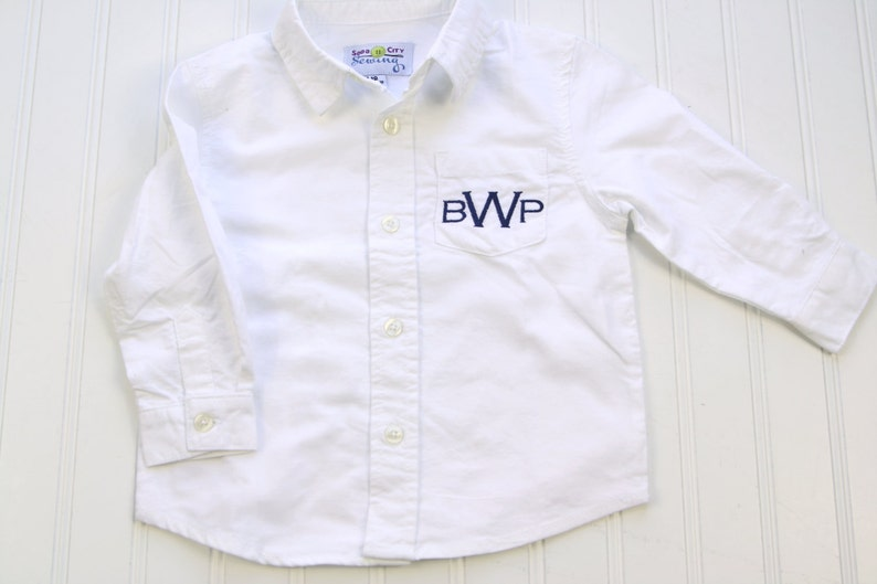 053eb994bf2 Monogrammed Dress Shirt for Boys Baby Oxford Shirt Baby