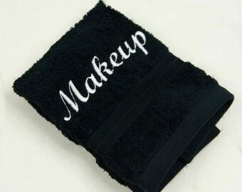 Black Makeup Towel - Makeup Washcloth - Beach House Gift - Makeup Remover Towel - Wholesale Makeup Towel - Housewarming Gift - Hostess Gift