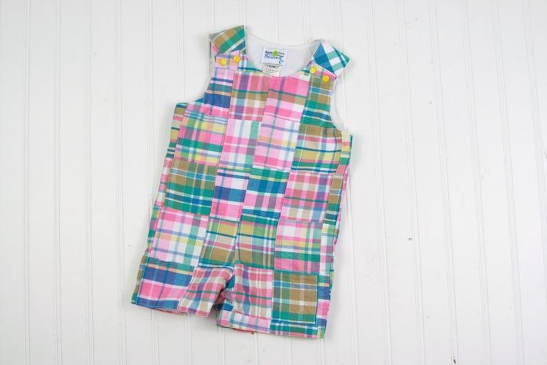 8c36dd5ab Preppy Boy Outfit Baby Boy Patchwork Plaid Outfit Madras