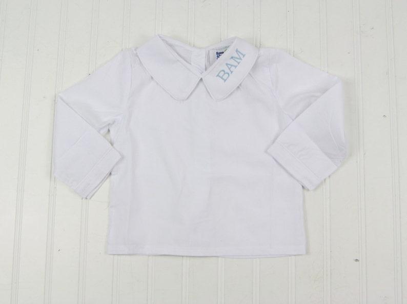 cdfecafd2e7 Peter Pan Collar Shirt Girls Dress Shirt Monogrammed Dress