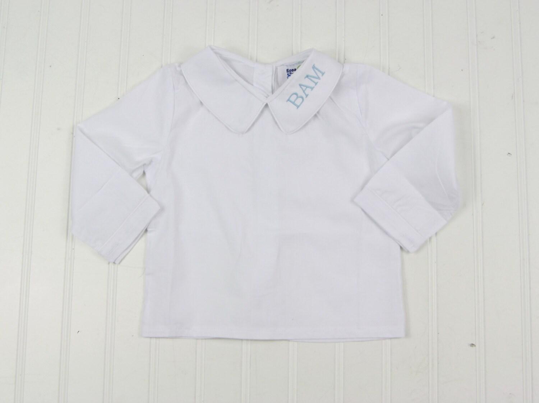 Peter Pan Collar Shirt Girls Dress Shirt Monogrammed Dress Etsy