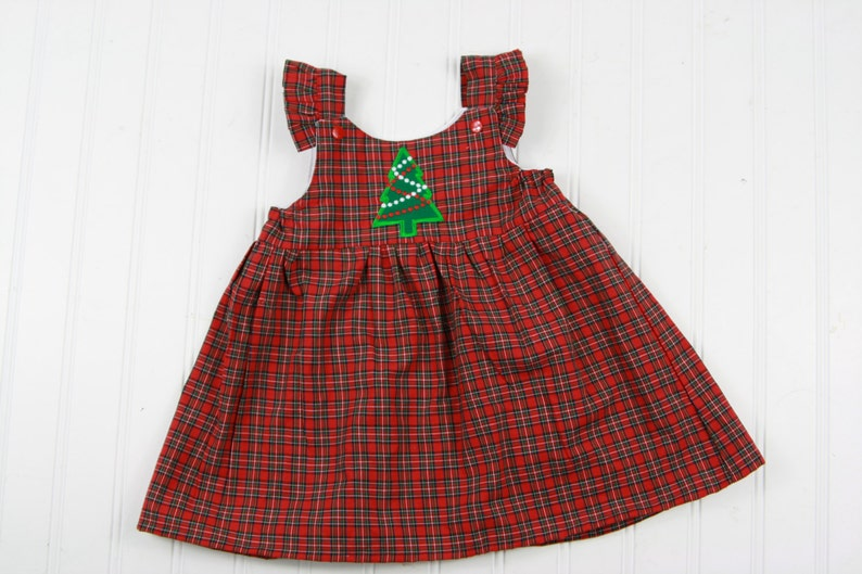 8933f27af Baby Girl Christmas Dress Red Tartan Plaid Dress Girls | Etsy