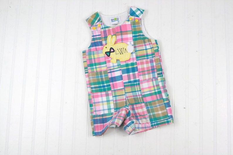 45f167fcb06c Toddler Boy Easter Outfit Madras Plaid Shortall for Boys