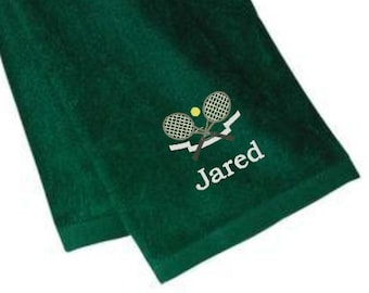 Personalized Tennis Towels, Personalized Tennis Gifts, Tennis, Tennis Monogram, Personalized Gifts, Tennis Gifts, Christmas Gift Ideas