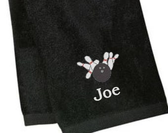 Personalize Bowling Towels, Bowling Towels Personalized, Sports Towels, Personalized Gifts, Gifts for Him, Gifts for Dad, Christmas Gifts