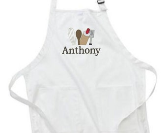 Apron, Personalized Apron, Apron for Cook, Baker Aprons, Chef Apron, Custom Embroidery, Kitchen Gifts, Gift for Cook, Gift for Chef