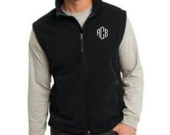 Mens Vest, Fleece Vest, Fleece Vest Mens, Monogram Vest, Gift for Men, Gift for Dad, Men's Clothing, Christmas Gift, Christmas Gift Idea