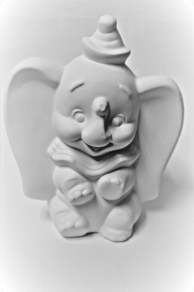 Dumbo Ready to Paint Casting Mold Collectible Disneyland Dumbo the  Elephant Painting you Own Ceramic Bisque Olga's Treasures Shop