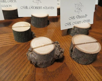 One hundred (100) - Wood Place Card Holders