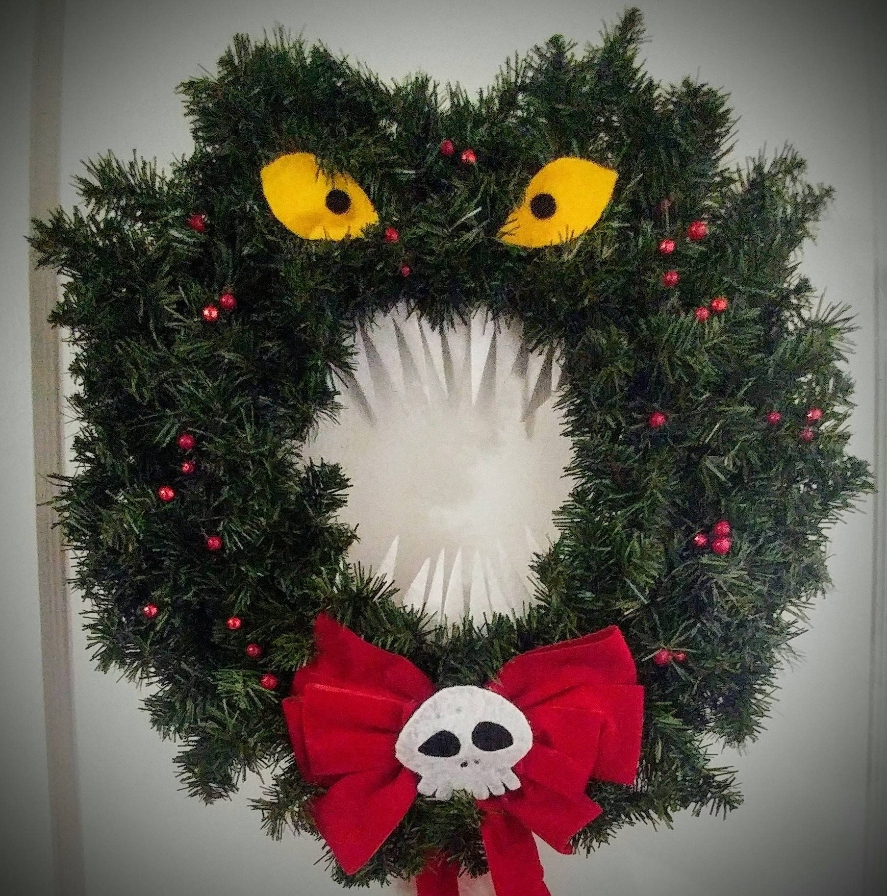 Monster Christmas Wreath