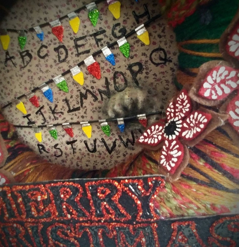 Stranger Things Christmas Wreath