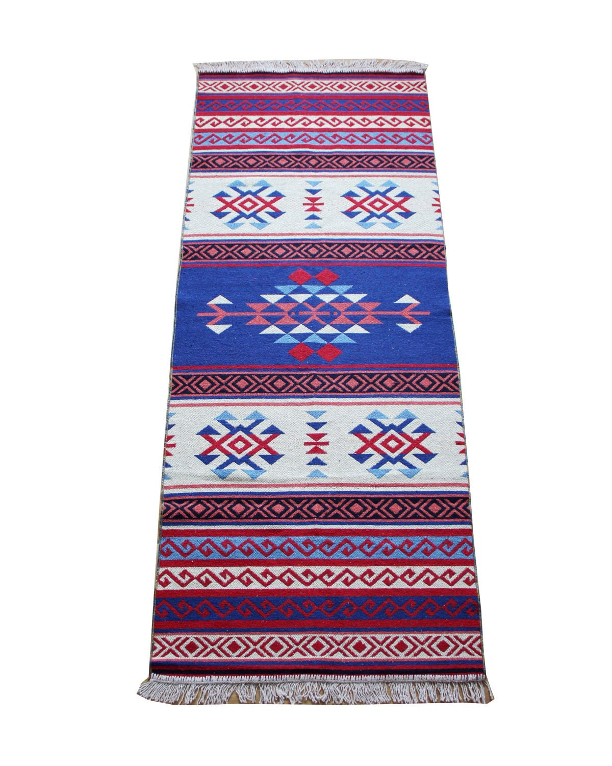 Kilim Runner Rug New Reversible Turkish Kilim Runner Rug