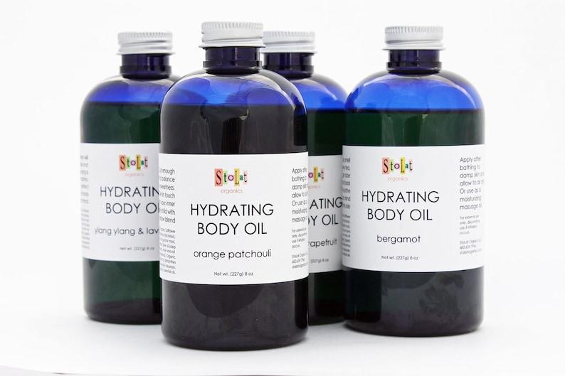 Organic Body Oil  Orange/Patchouli Ylang Ylang /Lavender image 0