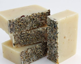 Vegan, Palm free, Organic Soap - Lavender and Oatmeal / Face and Body Cleanser  (Vegan, Palm Free, Cruelty Free)