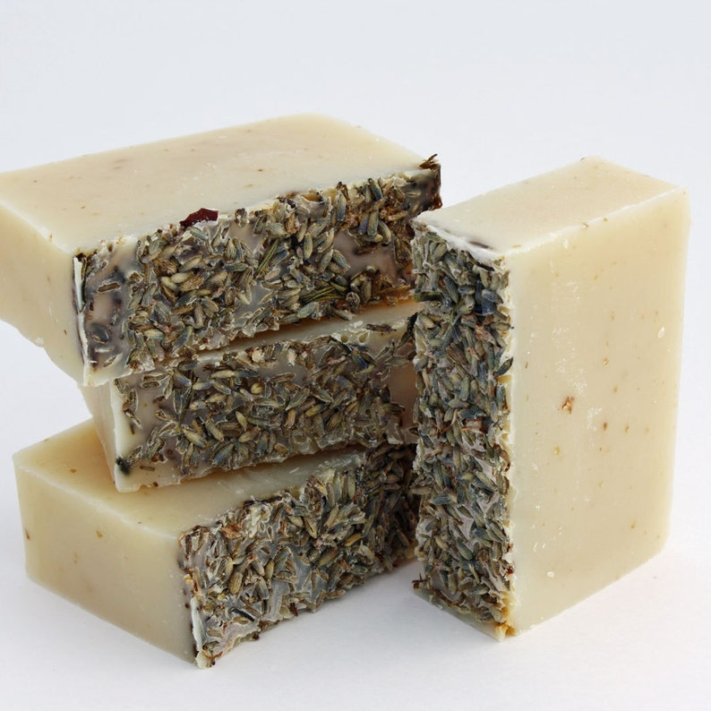 Vegan Palm free Organic Soap  Lavender and Oatmeal / Face image 0