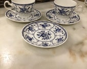 Indies Johnson Bros. England ironstone pair cup and saucer with bonus plate