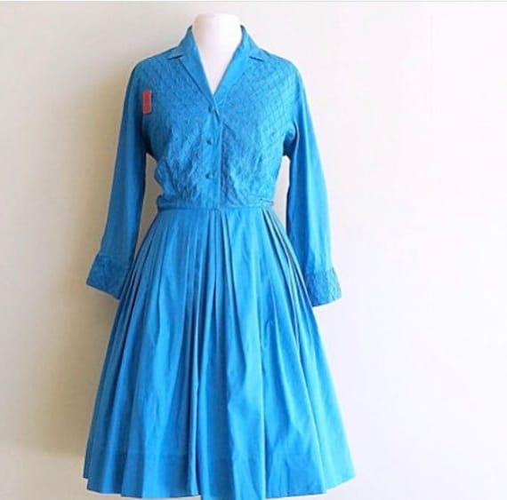 Silk Shirtwaist Dress • 1950s Secretary Dress Norm