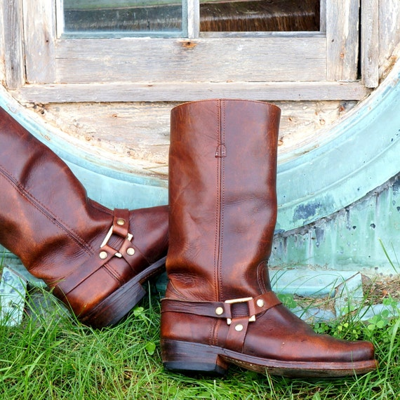 Harness Boots • 8.5D US Men • 1970s • Motorcycle /