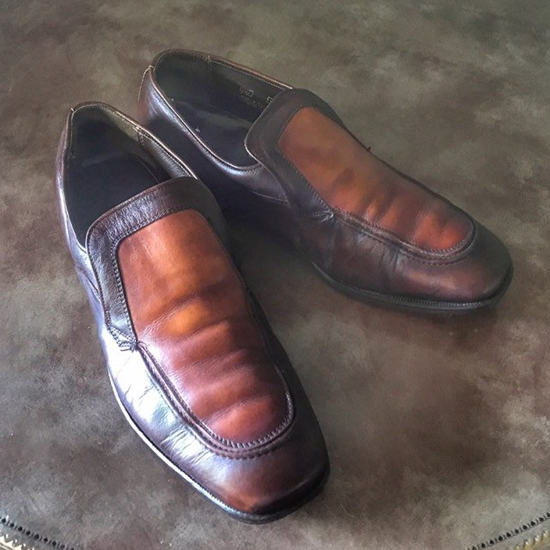 Indie Summer 1970s Vintage Shoes Men Rocker Loafers Weyenberg image 0