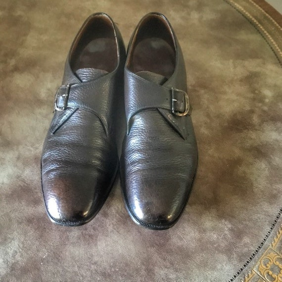 Vintage Monk Strap Shoes Freeman 1960s Mens Shoes