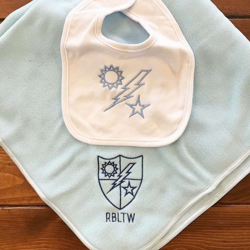 Ranger Regiment DUI Organic Cotton Burp Cloth Set Personalized Baby Burp Cloth Army Baby Gift