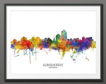 Albuquerque Skyline Etsy