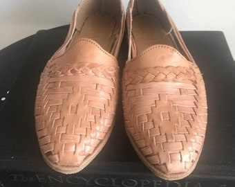 17d4706d6ec New Traditional 100% Leather Mexican Beige Huaraches (Size 7 Mexican 24)