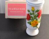 PORCELAIN DEMI-CUP-Romantic Vintage Milk Glass Mug-Demitasse-Expresso-Celebration-Retro 1960s-Kitschy-Affordable Gift Birthday-Mom-Hostess