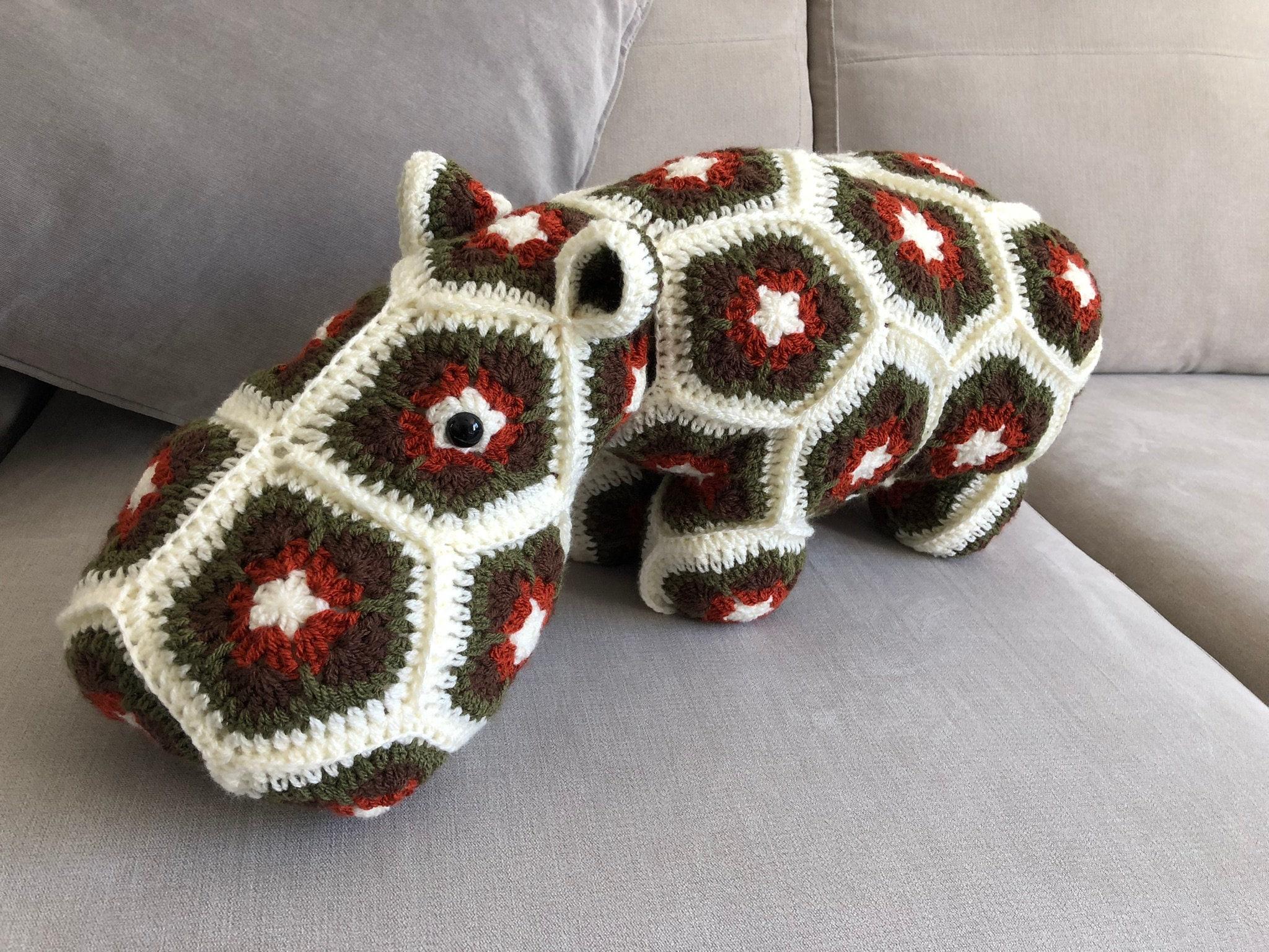 Nuevos Precios Más Bajos Mrs Bs autumn large crochet African flower hippo NicOUI