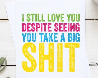 Seeing you Funny Love Valentines Anniversary Greeting Card