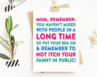 Happy Mother's Day Itchy Fanny Funny Card
