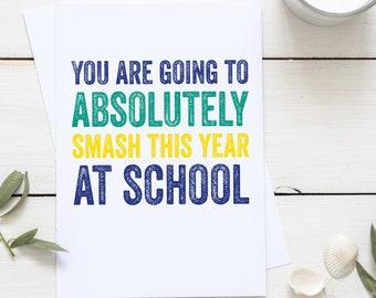 Smashing your year at School positivity celebration Greeting Card