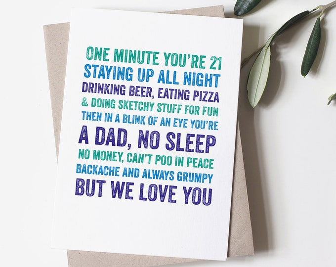 Happy Father's Day grumpy Dad Card