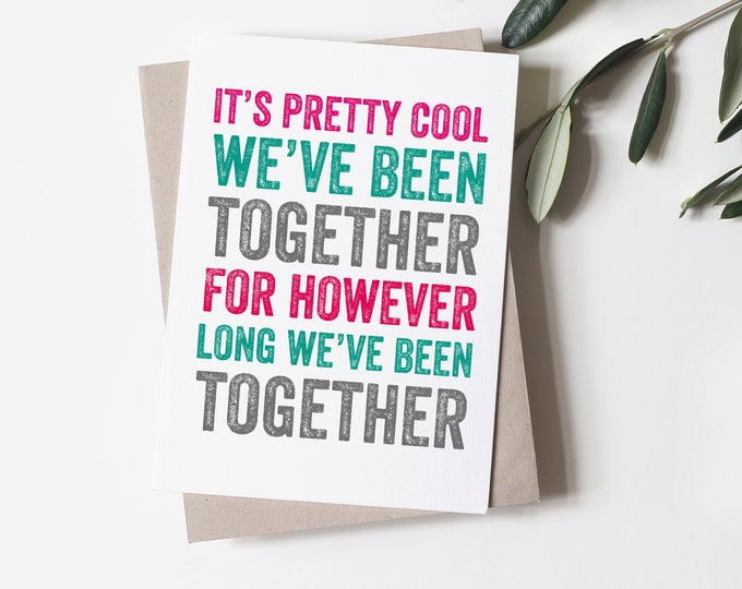 Cool Together Funny Anniversary Greeting Card
