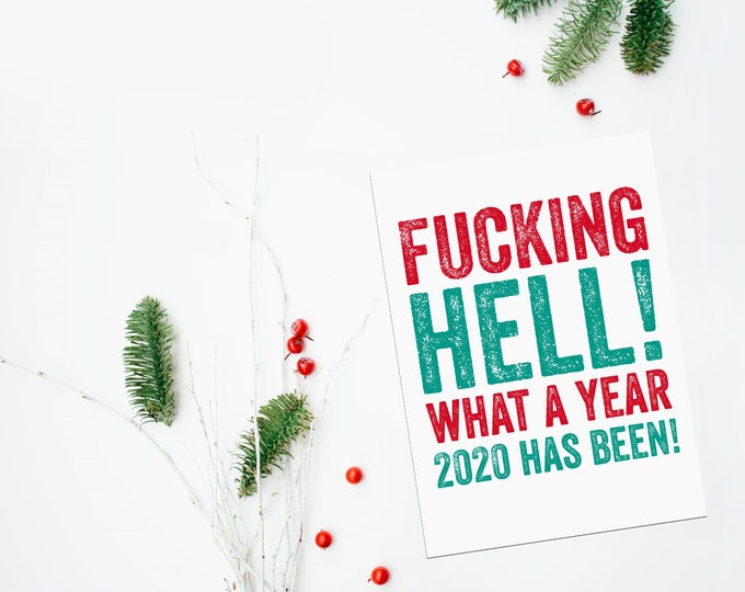Bloody Hell Funny Joke Christmas Greeting Card