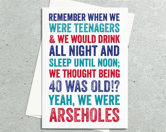 Teenage Funny 40 Birthday Card