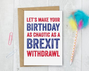 Happy Birthday Brexit Personalised Rude Joke Birthday Greeting Card