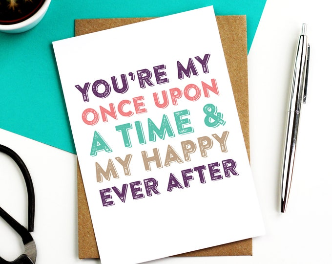 You Are My Happy Ever After Anniversary Love Wedding Celebration Greeting Card DYPW036