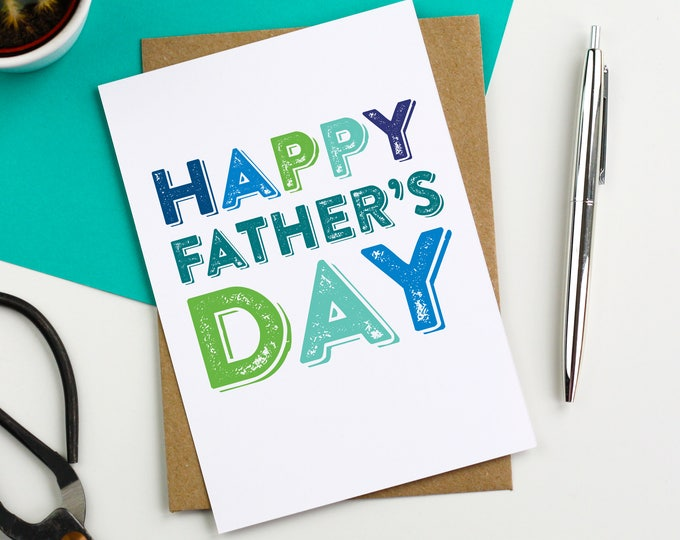Happy Father's Day Simple Typographic Favourite Funny Greetings Card DYPFD027