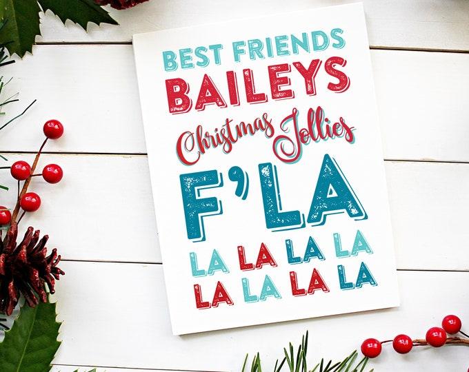 Christmas Baileys Jolly Christmas Card