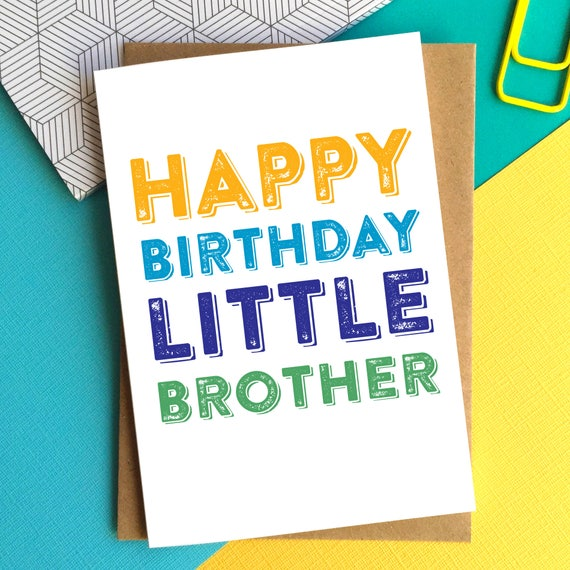 Happy birthday little brother funny sibling contemporary etsy image 0 m4hsunfo